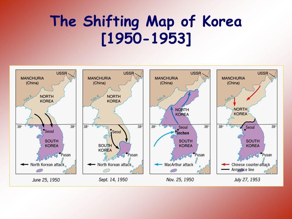 The Shifting Map of Korea [1950-1953]